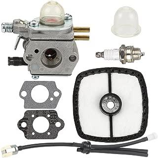 Buckbock Carburetor for C1U-K51 C1U-K45 Echo HC-1500 HC-1600 HC-1800 HC-2000 HC-2400 HC-2410 SRM-2100 SRM-2110 GT-2000 GT-2000R PAS2000 PAS-2100 SRM-2410 PP-1200 Trimmer with Air Filter Fuel Line Kit