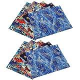 10 Piezas de Tela de algodón Floral, 9.8 x 7.9in Estilo japonés Tela de algodón Impresa de Bronceado Suave Accesorios de Acolchado cómodos para Bolsos de Bricolaje handmades Bolsos Billetera