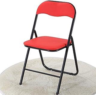 Amazon.es: silla plegable de metal roja