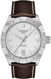 mens PR 100 Classic Stainless Steel Dress Watch Brown T1016101603100