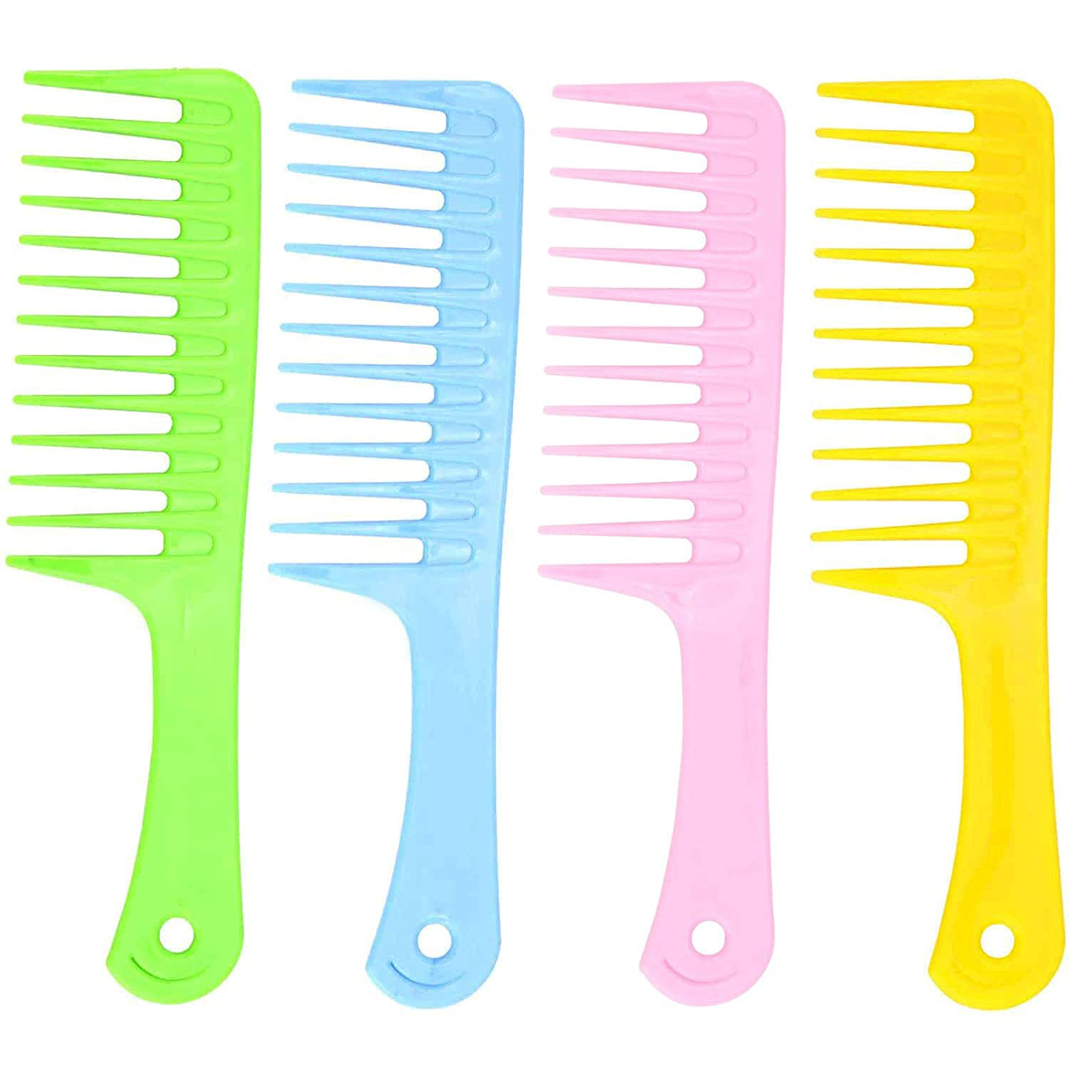4pcs Wide Tooth Hair Max El Paso Mall 69% OFF Combs - Brush for Large Detangling Lon
