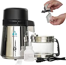 ECO-WORTHY 1 Gallon Water Distiller -Pure Water Distillation with Glass-Lined Nozzle Filter and Manual Power Switch Brushe...