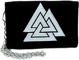 Triangles Valknut Odin Viking Symbol Tri-fold Wallet Alternative Clothing Old Norse Mythology