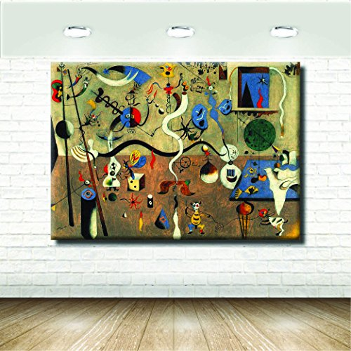 stampepersonalizzate.com Stampa su Tela Canvas - Formato 120X85 Solo Tela - Stampa in qualita Fotografica - Quadri Famosi - Moderni Astratti Mirò Colorato