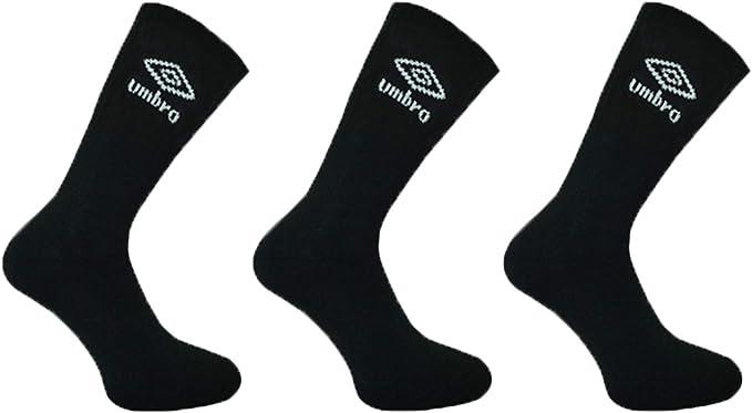 3 6 Pairs Men/'s Umbro Crew Sock Sport Socks Cotton Work Socks Shoe GOOD SIZES