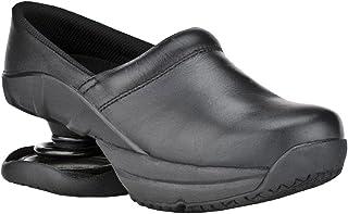 Z-CoiL Pain Relief Footwear Men's Toffler Slip Resistant Black Leather Clog Sandal