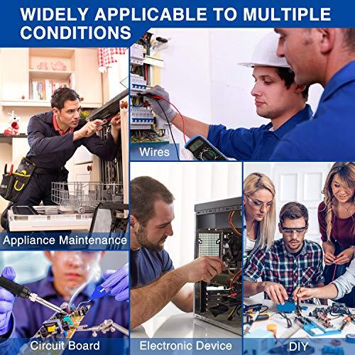 WOWGO Fer à Souder Kit de Soudage 60W kit Electrique Température Réglable avec Multimètre...
