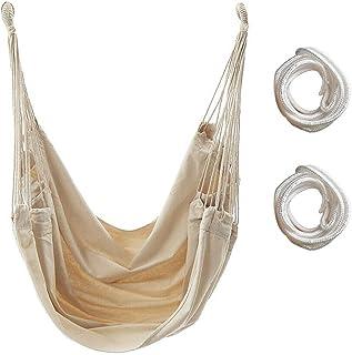 Silla Hamaca, Silla Colgante Carga hasta 300 lb - Silla Hamaca Colgantes para Interior y Exterior