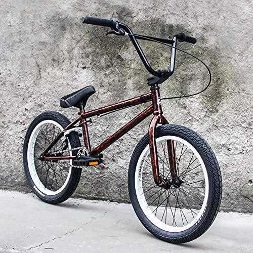 GASLIKE Adultos de 20 Pulgadas Bici de BMX, Fantasía Mostrar Truco de BMX Bicicletas para Principiantes de Nivel a los Jinetes avanzados Calle Bicicletas 25T * 9T