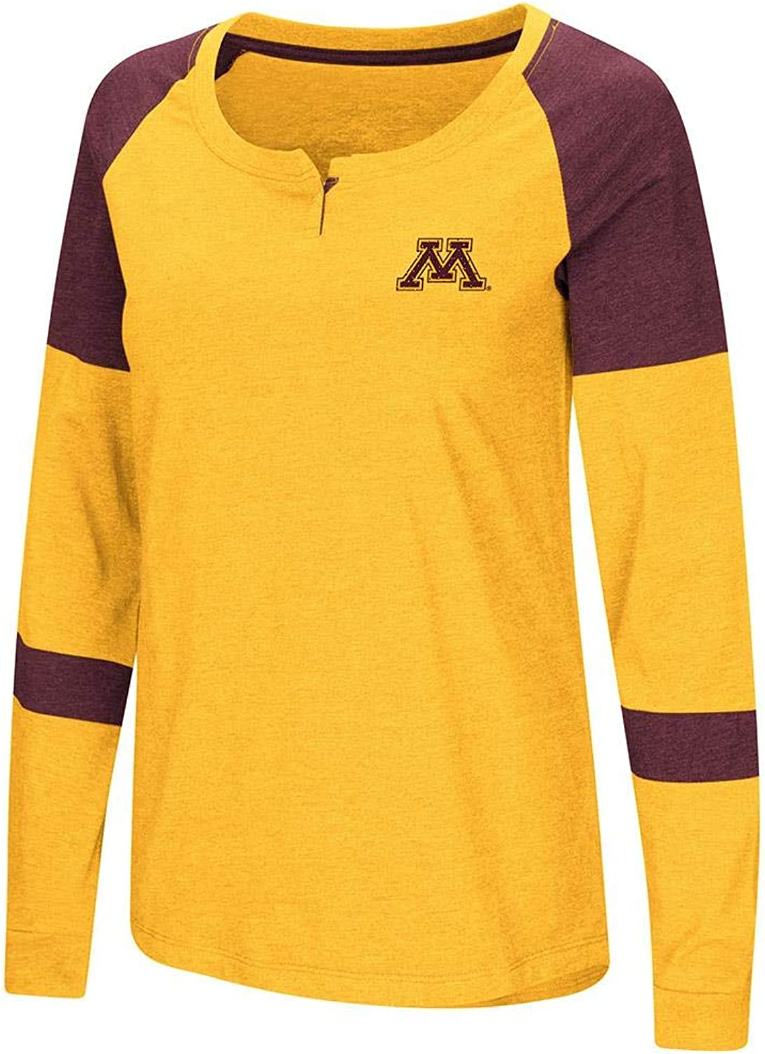 Colosseum Womens Minnesota golden Gophers Long Sleeve Raglan Tee Shirt