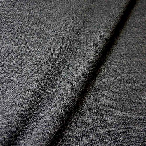 Werthers Stoffe Stoff Meterware Bündchenstoff Schlauchware Jersey anthrazit grau Bündchen