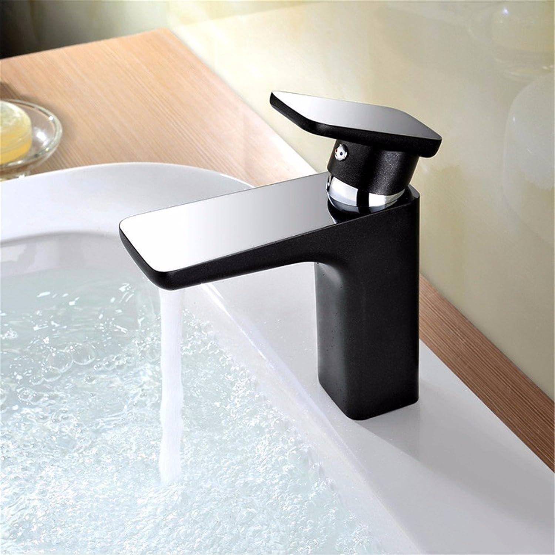 Pengei Tap Basin Mixer Kitchen Sink Mixer Faucet Single Hole Copper Paint Black Matte Matte
