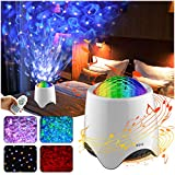 Decorative Projector Light LED Star Galaxy Christmas Decorations Kids lamp Stage Lights Nebula Cloud with 16 Music/Sounds,Bluetooth Speaker,Nursery/Yoga/Sleeping/Party/Night Light Ambiance (White)