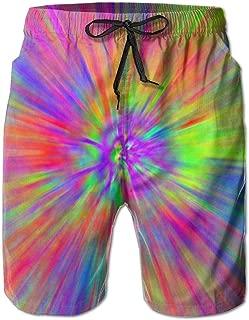 Mens Beach Swim Trunks Galaxy Stars Space Starry Universe Night Sky Boxer Swimsuit Underwear Board Shorts with Pocket