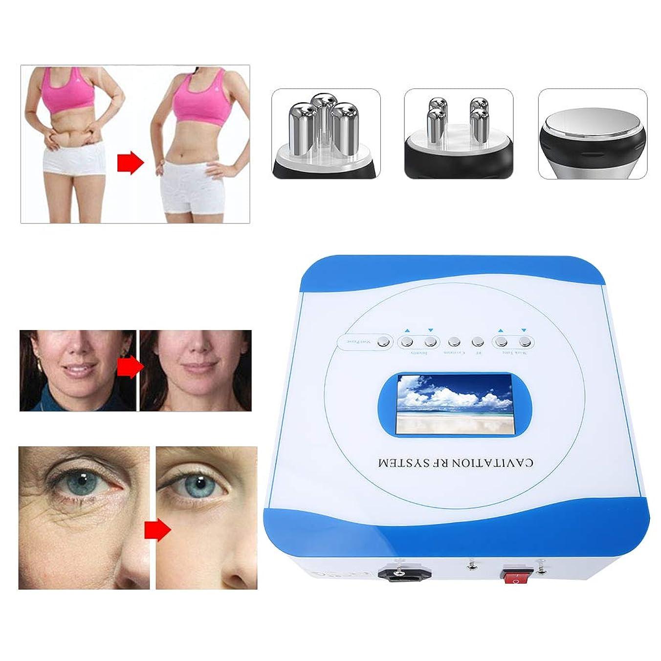 アレイ小康タクト1つの体重の機械に付き3つ、皮の持ち上がる美機械を形づけるRFの超音波発破の脂肪質の器械ボディ(US Plug)