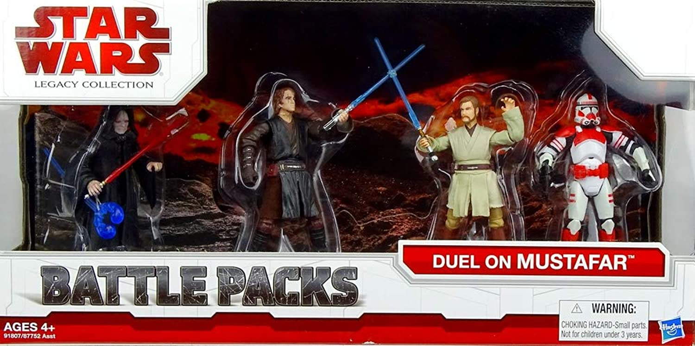 Hasbro Star Wars Battle Pack Duel on Mustafar mit 4 Figuren The Legacy Collection