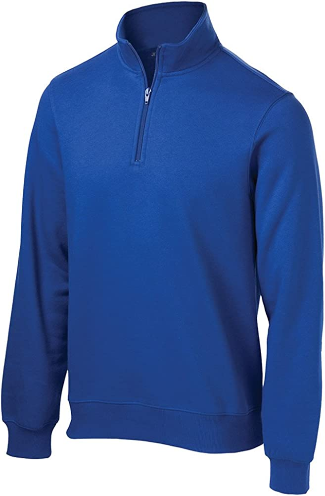 Joe's USA Men's Tall 1/4-Zip Sweatshirt Sizes LT-4XLT