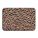 rwwrewre Indoor Disco Pattern Orange Polka Dots Front Door Mats Rug Personalized Mat for Bathroom Kitchen Bedroom Entryway Floor Mats Nonslip Rubber 15.7'x23.6' Unique Doormat