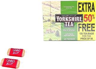 Yorkshire Hard Water 120 zakjes - hoogwaardige traditionele thee - met 2 x gratis lotusgekarameliseerde koekjes 6 g. Delic...