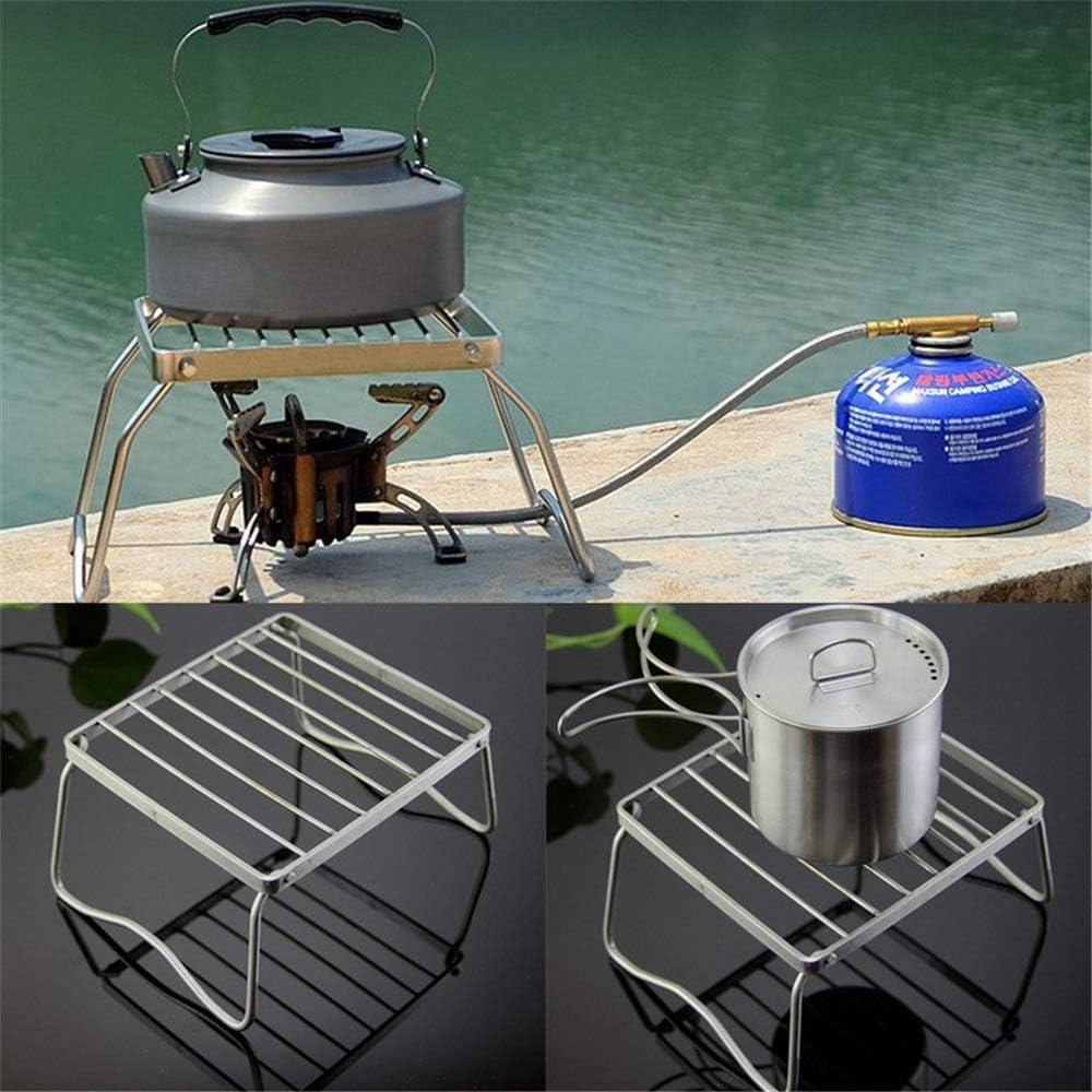 PUNGDUNK Barbecue Grill Portable en Acier Inoxydable Pliable Barbecue Grill Mini Poche BBQ Outils Cuisine Accessoires pour Camping en Plein Air (Color : 20x36cm) 170x155x95mm