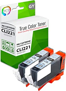 TCT Compatible Ink Cartridge Replacement for Canon CLI-221 CLI221 Gray Works with Canon Pixma iP3600 iP4600 MP540 MP560 MP620 MP620B MP640 MP990 MX860 MX870 Printers (500 Pages) - 2 Pack