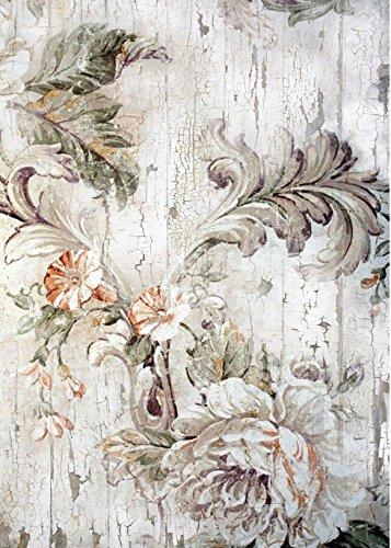 Cadence Papel de Arroz Flores Grises 30x41 cm Ref. 551