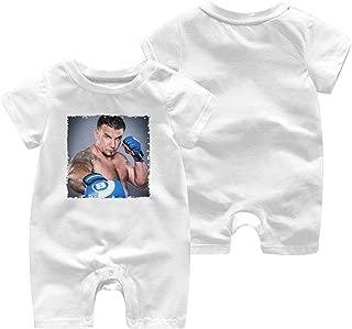 Frank Mir Baby Boy Girl Short Sleeve Baby Bodysuit Baby Onesie Lovely Casual White