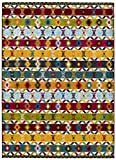Universal Alfombra étnica Zaria Tribal Multicolor, 100% Polipropileno, 80 x 150 cm