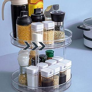 Turntable Organisateur De Cabinet, Lazy Susan Turntable, Rotating Plateau De Rangement De Cuisine Spice Container Multifon...