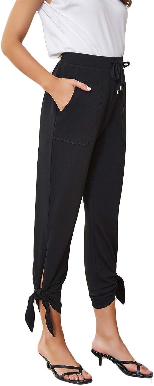 GRACE KARIN Women's Straight Leg cheap Pants Cropped Casaul Drawstring Minneapolis Mall