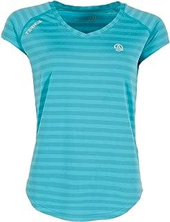 Ternua /® Camiseta ML Arne Mujer Turquesa Rayas