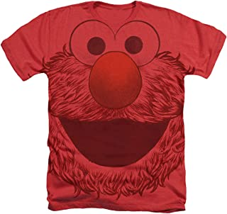 Sesame Street Elmo Face All Over Heather T Shirt & Stickers