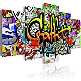 murando - Bilder 200x100 cm Vlies Leinwandbild 5 TLG Kunstdruck modern Wandbilder XXL Wanddekoration Design Wand Bild - Graffiti i-A-0103-b-p