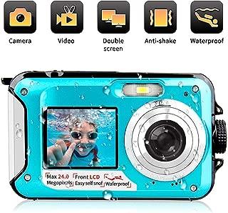 undersplash 24 MP Underwater Full HD 1080P Video Recorder Camcorder Selfie Dual Screen Shoot Waterproof Digital Camera for Snorkelling