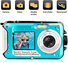Waterproof Digital Camera 24 MP Underwater Camera Full HD...