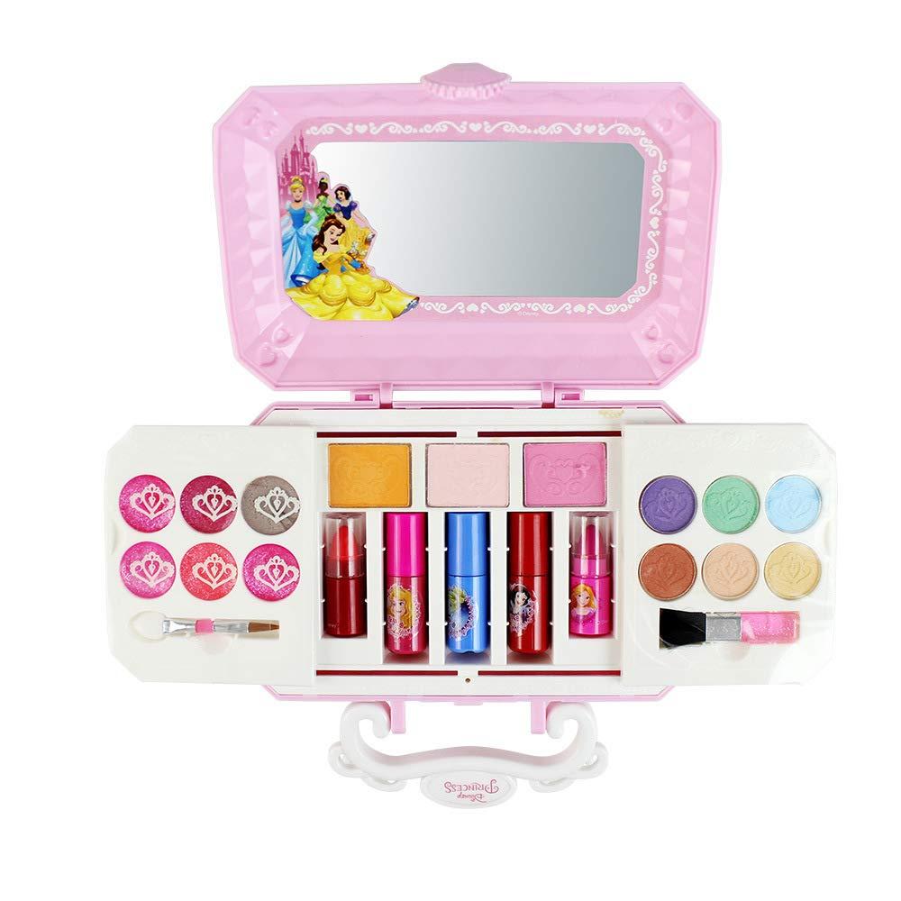 Aiwer Mini Caja Cosméticos para niños Juguetes Regalos de Regalo Cosméticos para niños Pequeña Princesa Maquillaje Estuche para niñas Pink Makeup Sets Regalo para niña: Amazon.es: Hogar