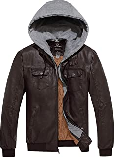 fabric jacket that looks like leather