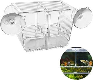ボクテック(boxtech)水族館稚魚飼育ボックス,魚とエビの隔離室(魚孵化箱-M +ゴム吸盤)