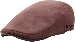 Westeng Men Beret Cap Warm Retro Newsboy Berets Knitted Cap Flat Adjustable Leisure for Spring Winter 56-58cm 1Pc