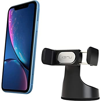 Kenu Airbase Pro, Dashboard and Windshield Car Phone Holder Mount, Cell Phone Stand, Suction Cup, 360-Degree Pivot, Extra Large Expandable Grip, Compatible with Latest iPhones, Samsung and Android