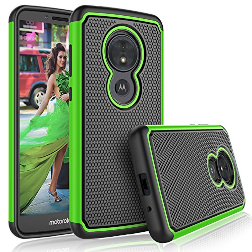 Tekcoo for Moto G6 Play Case/Motorola Moto G6 Forge Cute Case, Tekcoo [Tmajor] Shock Absorbing [Green] Hybrid Rubber Silicone & Plastic Scratch Resistant Bumper Grip Rugged Sturdy Hard Cases Cover