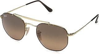 RB3648 The Marshal Square Sunglasses, Havana/Brown Gradient, 51 mm