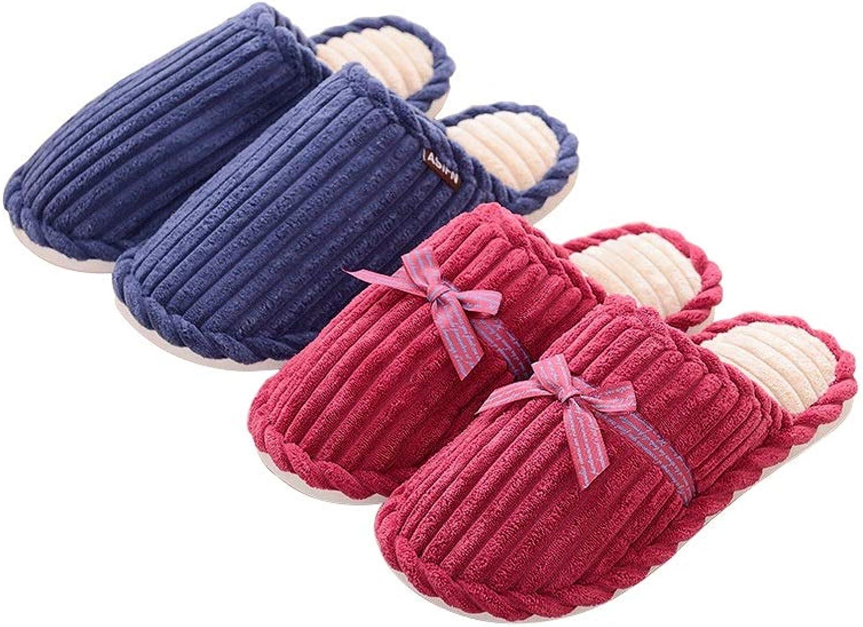LKKTX Winter Baumwolle Hausschuhe Hause Rutschfeste weiche Paar Paar Paar Hausschuhe, insgesamt Zwei Paar Schuhe  71fd58