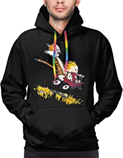 Cal-vin And Ho-bbes Hoodies Men Women Thin Hoodies Pattern Pullover Tops With Pocket