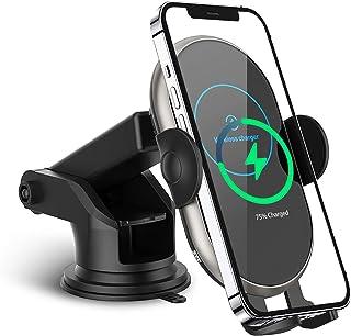 Auto Kabellose Handy Ladegeräte, Qi Schnellladung 10W/7,5 W/5 W Kabellose Kfz Handy Ladegeräte Auto Clamping Telefonhalter für iPhone 12/12 Pro/SE/11/XR/X/8, Samsung S20/ Note10+/S10/S9/S8