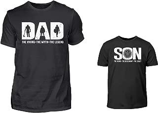 Vater Sohn Partnerlook Set T-Shirt Und Baby Body Strampler Spruch EIN Herz Und Eine Seele Papa Kind Partnershirts Geschenkidee Geschenkset