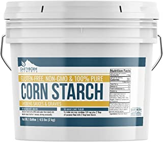 Corn Starch (1 Gallon (4.5 lb.)) by Earthborn Elements, Resealable Bucket, Thickener For Sauces, Soup, & Gravy, Highest Quality, All-Natural, Kosher, Food Grade & USP Grade, Vegan, Gluten-Free