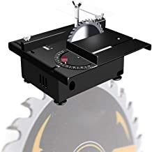 Sierra de Mesa portátil de sobremesa, Sierra de Mesa de precisión, Mini Mesa eléctrica Sierra 100W con Eje Flexible y Regla de ángulo, máx.Profundidad de Corte 30 mm / 1.18