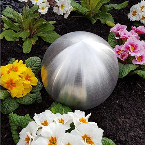 Jürgen Bocker Garten-Ambiente DK 100 026 Dekokugel aus Edelstahl 30 cm matt gebürstet Dekorationskugel Edelstahlkugel, Silber