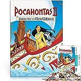 Puzzle 1000 Piezas Pocahontas II New World Journey Movie Poster Puzzle Animación Canción Familiar y Baile Papel Puzzle Challenge Puzzle 26x38cm Juego Infantil Brain Challenge